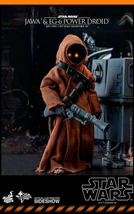 Figurine Jawa & EG-6 Power Droid Hot Toys