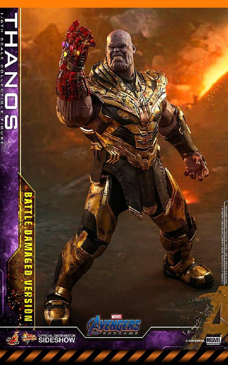 Figurine Thanos Battle Damaged Version Hot Toys