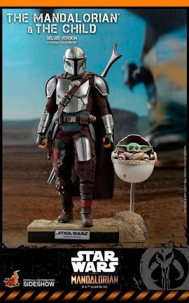 Figurine The Mandalorian & The Child Deluxe Hot Toys