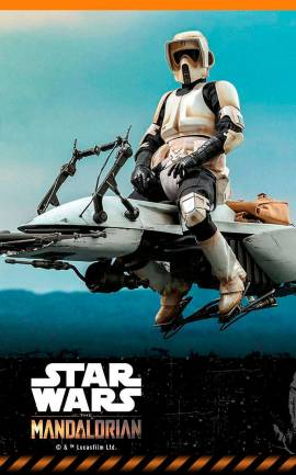 Figurine Scout Trooper & Speeder Bike Hot Toys
