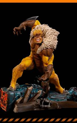 Figurine Sabretooth Iron Studios