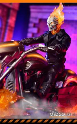 Figurine Ghost Rider & Hell Cycle Mezco