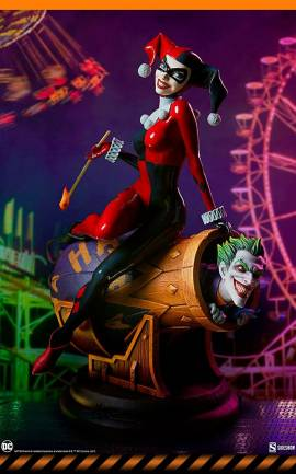 Figurine Harley Quinn and The Joker Sideshow