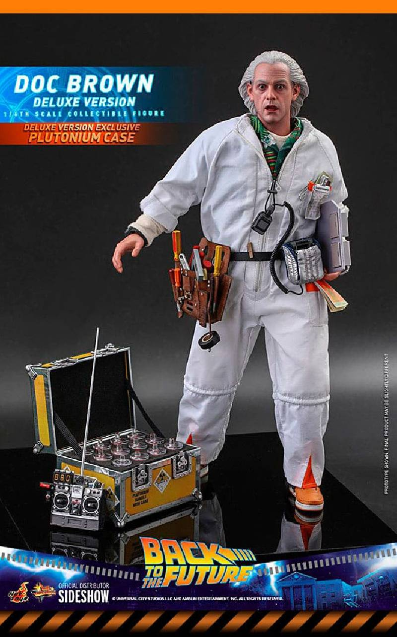 Figurine Doc Brown (Deluxe Version) Hot Toys