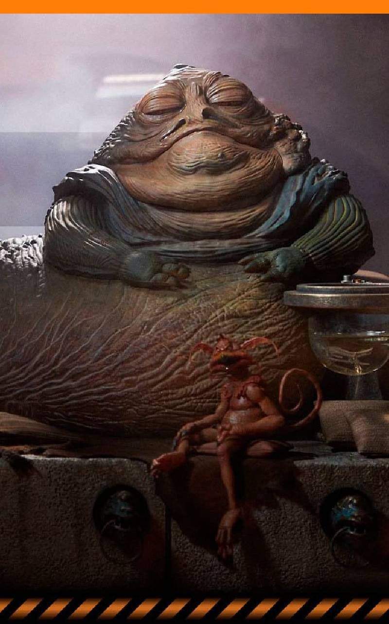 Figurine Jabba the Hutt & Throne Deluxe Sideshow