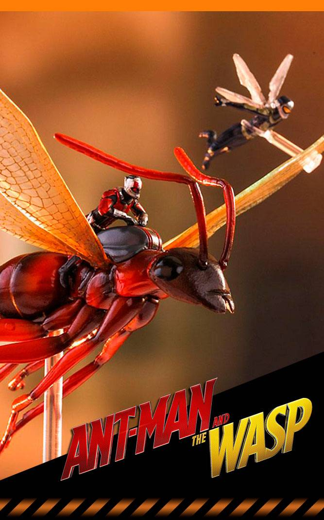 Hot Un Stock >> Figurine Ant-Man on Flying Ant and the Wasp Hot Toys